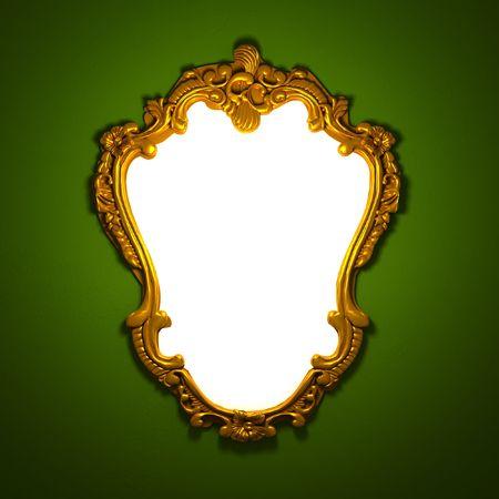 Baroque picture frame: 3d image de Classic cadre dor� vieilli avec l'espace des blancs personnalis�e