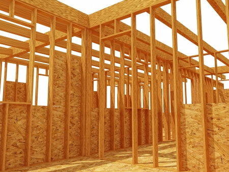 plywood: 3d image of contruction wood site background