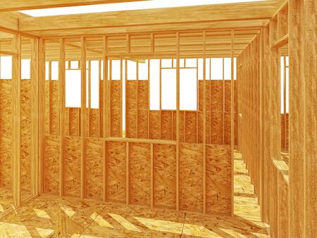 3d image of classic wood construction site background Stock Photo - 6112657