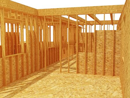 3d image of classic wood construction site background photo