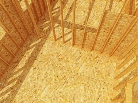 fine 3d image of constructione site wood Stock Photo - 6112652