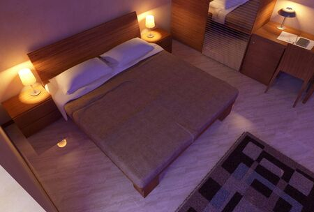 modern wood bedroom interior 3D computer generated Stock Photo - 6401961