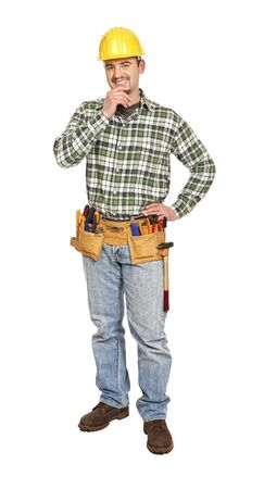 manual worker portrait isolated on white background Stock Photo - 6542910