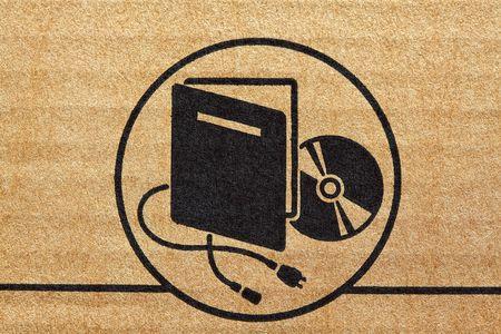 electronic mark on cardboard fine closeup image Stock Photo - 6577420