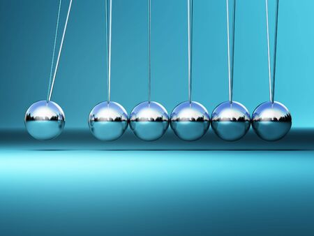 balance ball: newton cradle 3d image fine illustration  background Stock Photo