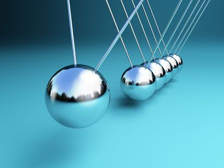 newton cradle 3d ballancing balls fine background Stock Photo - 6655129