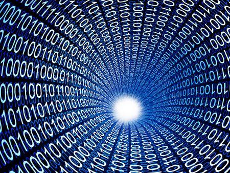 binary code tube fine 3d image background Stock Photo - 6655231