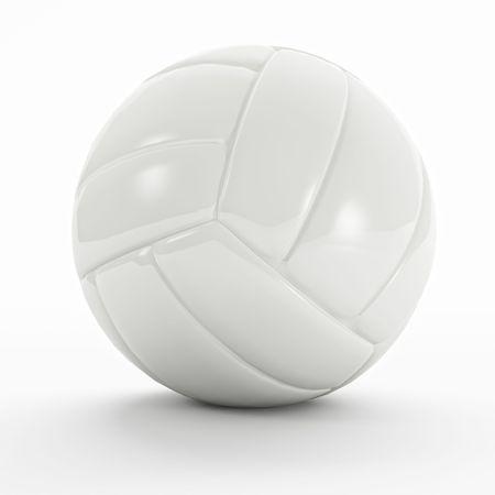 ballon volley: volley vide balle 3d sur fond blanc Banque d'images