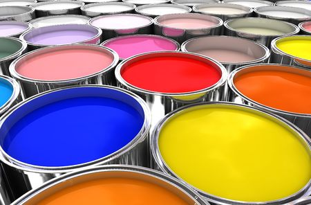 3d image of color ink tank background photo