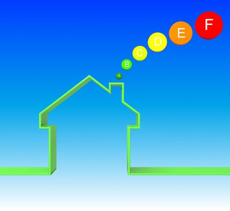 attested: energetic house class image 3d on blue  background