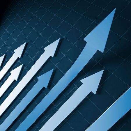 financial stat arrows fine 3d image background photo
