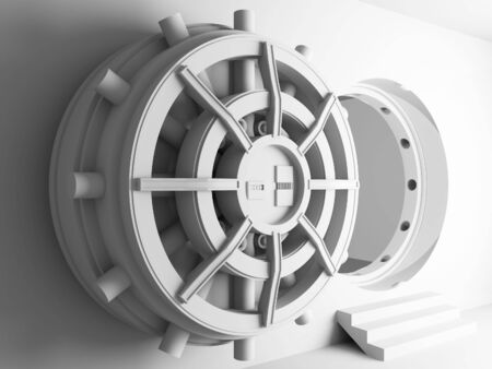 bank vault door 3d background Stock Photo - 6793107