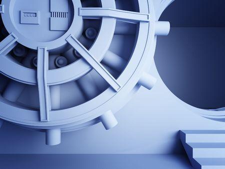 bank  vault door 3d detail Stock Photo - 6793100