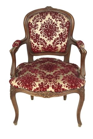 antique asian: italian vintage armchair isolated on white background
