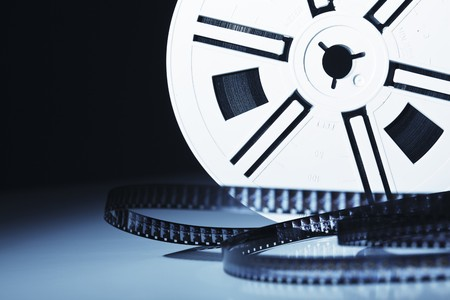 vintage old 8mm film movie background photo