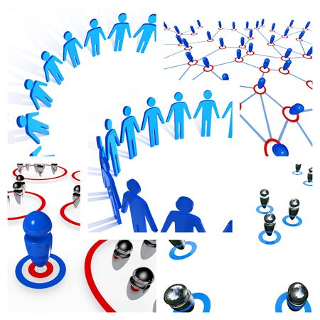 3d business image of global people connection metaphor photo