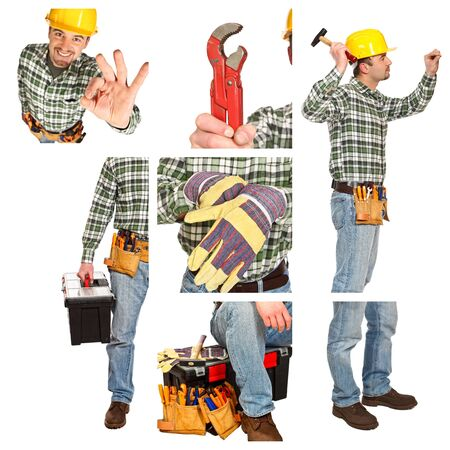 different image detail of young handyman at work Stock Photo - 6880628
