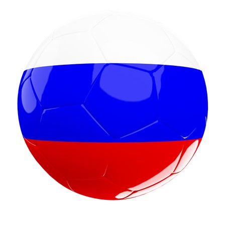 russian soccer 3d ball isolated on white photo