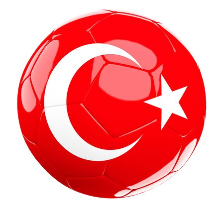 turkey 3d soccer ball isolated on white photo
