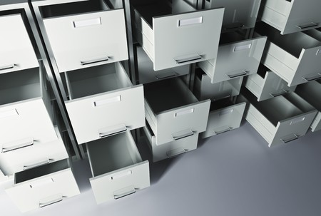 file cabinet 3d office business background Stock Photo - 7130220