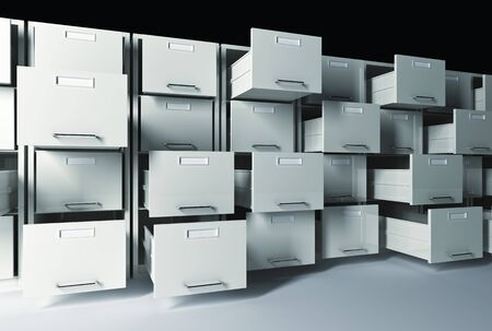 3d classic  file cabinet background Stock Photo - 7130222