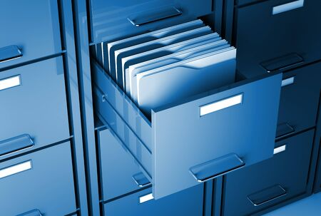 file cabinet 3d  and folder closeup image Stock Photo - 7168330