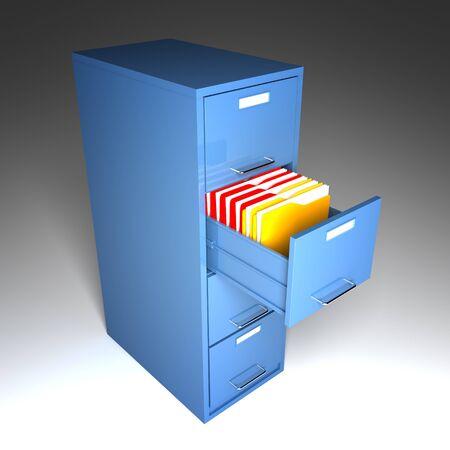 file and folder cabinet 3d business illustration Stock Illustration - 7168368