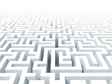 maze game: 3d classic  white labyrinth background