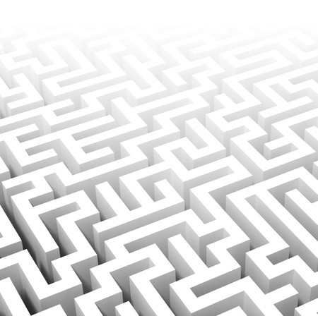 maze game: fine image of classic 3d labyrinth