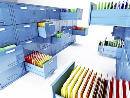 classico file cabinet 3d isolato su sfondo bianco  Archivio Fotografico