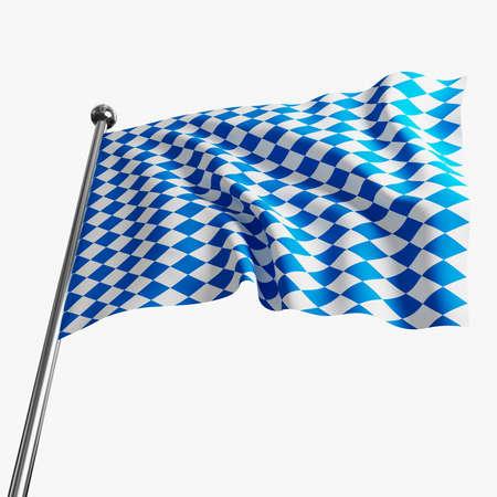 bavarian culture: image 3d of bavaria flag on white background