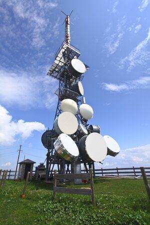 antenna tv station on mountain paganella trentino italian alps Stock Photo - 7387496
