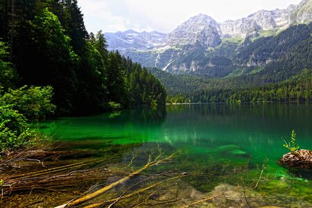 nice view of tovel lake on italian alps Stock Photo - 7387780