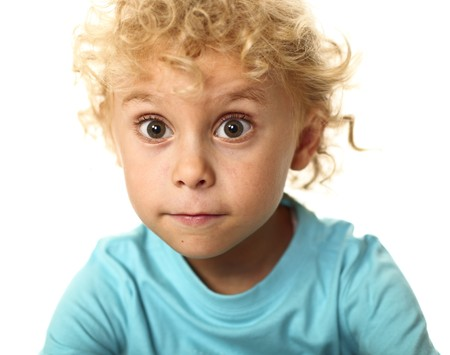 portrait of blonde white child isolated Stock Photo - 7484173