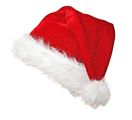 traditional santa claus hat on white background Stock Photo - 7576606