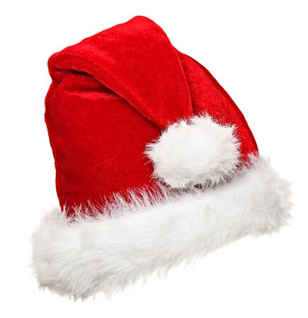 santa claus hat on white background photo