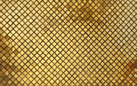 closeup image on golden tile background photo