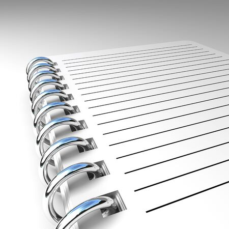metal spring: notepad 3d with metal spring fine  background