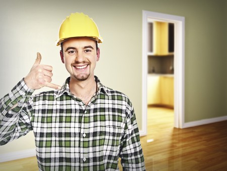 call me: handyman call me pose indoor 3d backround