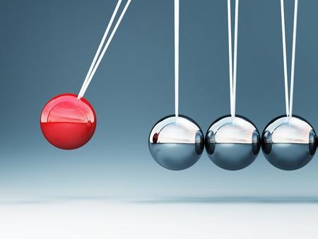 feine Bild des klassischen 3d Newton Wiege Hintergrund