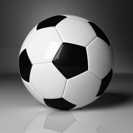 classic soccer ball 3d background photo