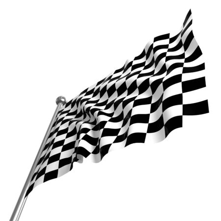 fine 3d image of classic checked start flag Stock Photo - 8523800