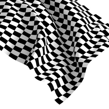 chequered: fine 3d image of classic checked start flag