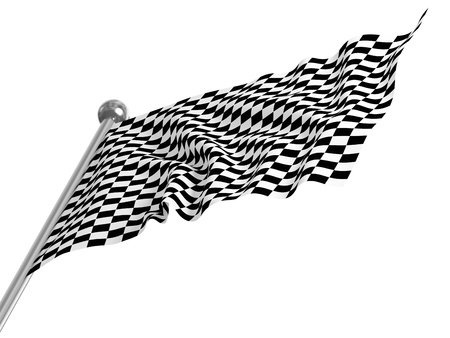 fine 3d image of classic checked start flag Stock Photo - 8523801