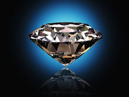 nice 3d image of classic diamond blue background photo