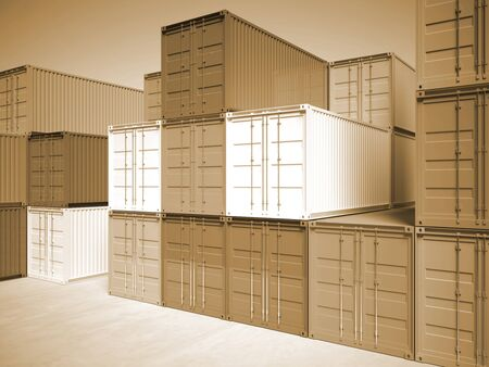 image of classic container 3d  Stock Photo - 8706247