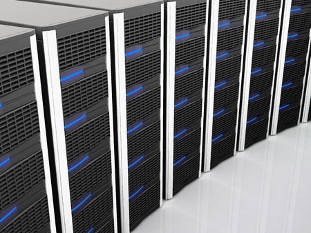 fine image of classic black server 3d background Stock Photo - 8815097