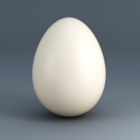 huge gray 3d egg and blue bacground