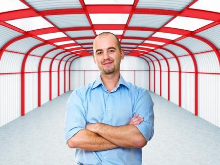 man in warehouse photo