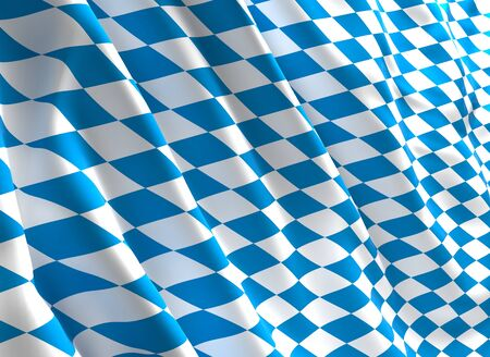 waved: fine 3d image of classic waved bavaria flag